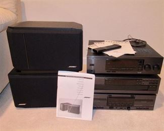 KENWOOD STEREO AND BOSE SPEAKERS
