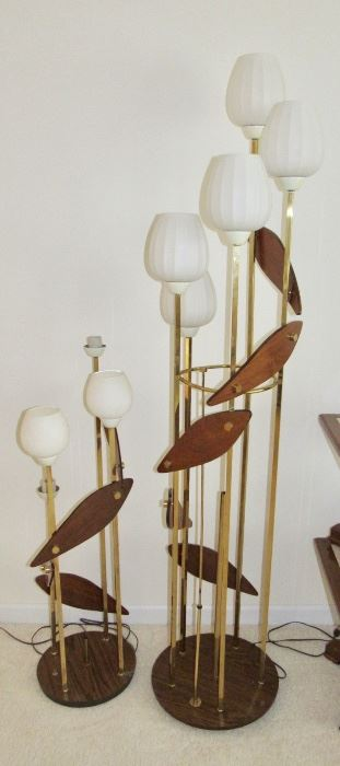 MID-CENTURY MODERN PEDAL FLOOR LAMPS