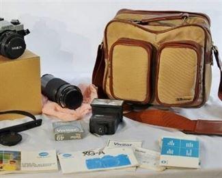 Minolta XG-A Camera with bag, lenses.  Excellent Condition