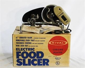 Rival Chrome Electric Food Slicer - excellent condition