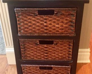 Cabinet with 3 Basket Drawers