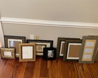 Many picture frames to choose from.