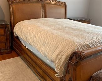 King sleigh Bed-Havertys