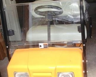 Cricket Resort Style Golf Cart.  Like New!  Still has the plastic on the seats.  Electric, new tires, 2 Batteries