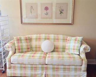 Stearns & Foster (Full Size) Sofa Sleeper in excellent condition and a beautiful floral picture