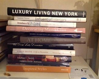 Coffee table books on decorating