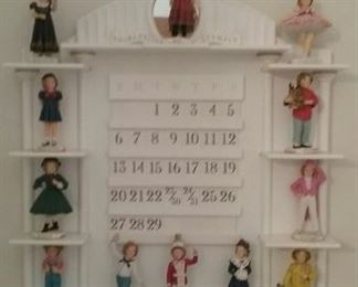 Shirley Temple Monthly Calendar Decor, Changeable
