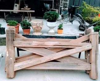 Vintage wood fence sections