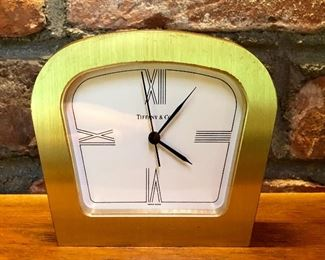 Tiffany brass clock, c. 1970s