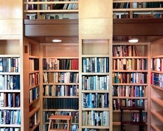 Library: two floors full with appx. 10,000 books on American History, the Civil War, Slavery, Thomas Wolfe, Lincoln, Charles Sumner, Literature of all kinds, - rare books and ephemera!