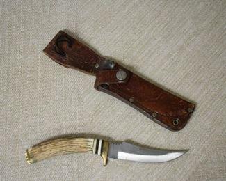 Stag Antler Hunting Knife