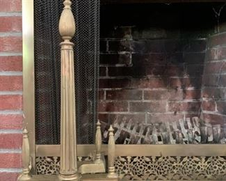 Andirons and Fireplace Screen