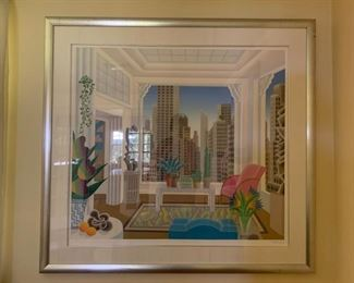 Thomas McKnight Serigraph, Signed and Numbered