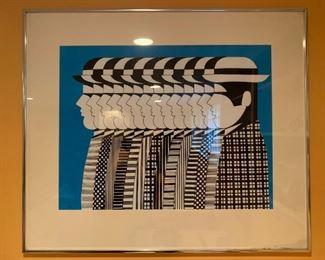Yannis Gaitis, Greek Artist, Signed Print, 1971
