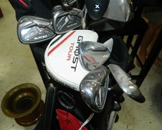 Close up of golf bag and clubs