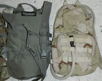 Close up of backpacks