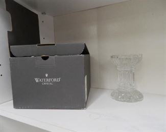 Waterford Crystal set of 4 tumblers, Waterford candle holder