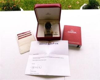 Omega Seamaster Watch in case with original paperwork and box