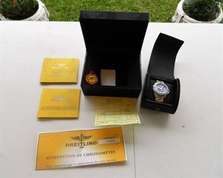 Breitling Colt watch w/original case and paperwork