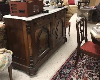 Vintage Buffet with marble top - great condition
