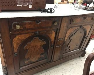 Close up of vintage buffet