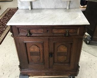 Vintage marble top wash stand or small dresser