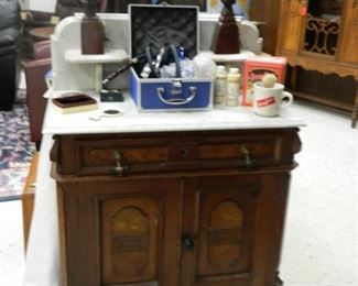 Vanity or wash stand with marble top