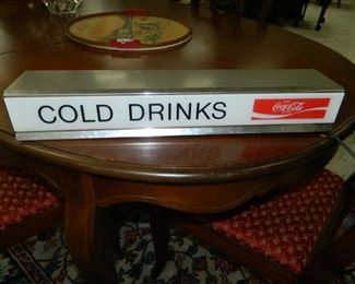 Vintage Coca-Cola lighted sign (2 available)