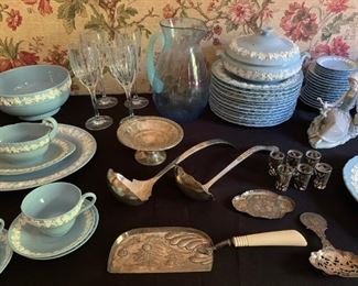 Antique Sterling Serving Pieces, Wedgwood