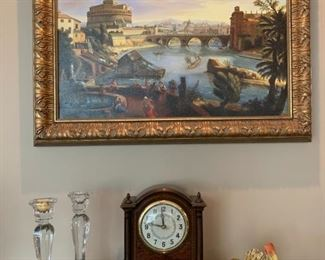 Hand Painted Reproduction in Gilt Frame