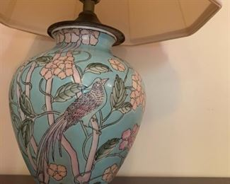 Chinese Style Lamp with Bird