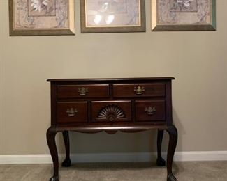 Mahogany Chest on Stand, Art Prints