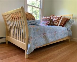 Slat Sleigh Bed, Twin, PAIR