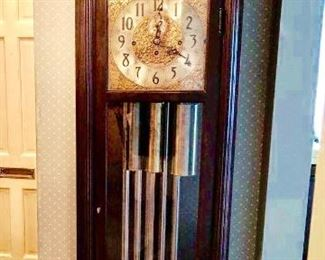 HERSCHEDE GRAND PRIZE MODEL GRANDFATHER CLOCK MOON AND STARS AT TOP