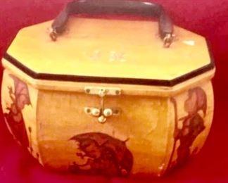 Hummel decoupage purse