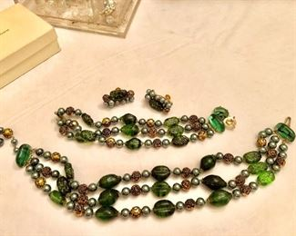 Lots of sets of vintage jewelry purchased by the clients grandmother. She died in 1959