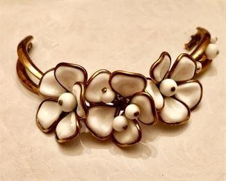 Vintage enamel jeweled bracelet