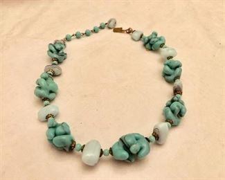 Venetian glass bead necklace