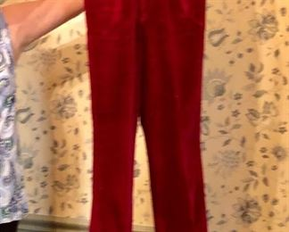 How hip can you get! Velvet pants!