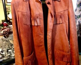Vintage suede fringed jacket circa 1960 perfect condition