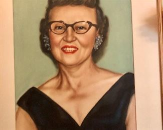 The lady who loved the costume jewelry. Signed portrait