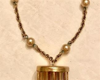 Gold filled 1950's bird in cage bracelet
