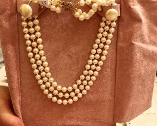 Crown mark trifari necklace earrings
