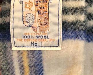Beautiful c 1950 wool throw