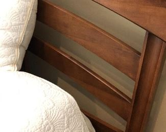 KING HEADBOARD - WITH CURVE - cherry wood - platform styling