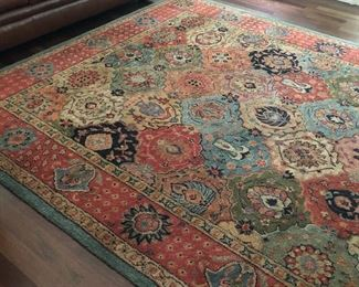 LARGE WOOL AREA RUG - EXCELLENT CONDITION - Pottery Barn - 100% wool