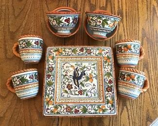 Exotic Birds & Flowers Dinnerware Set