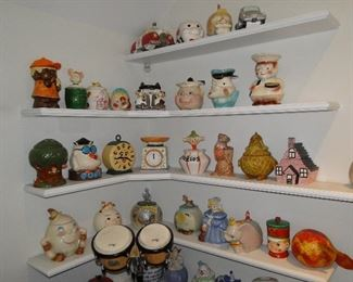 Cookie jars including mickey mouse turnabout, mammies, Christmas and more