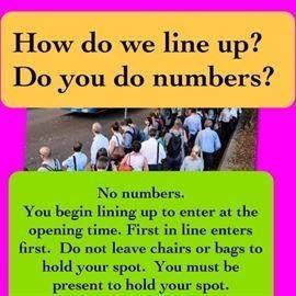line up