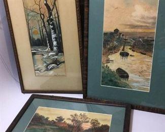 Framed Watercolors by Ida Schrader https://ctbids.com/#!/description/share/188638